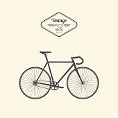 Vintage bicycle.vector