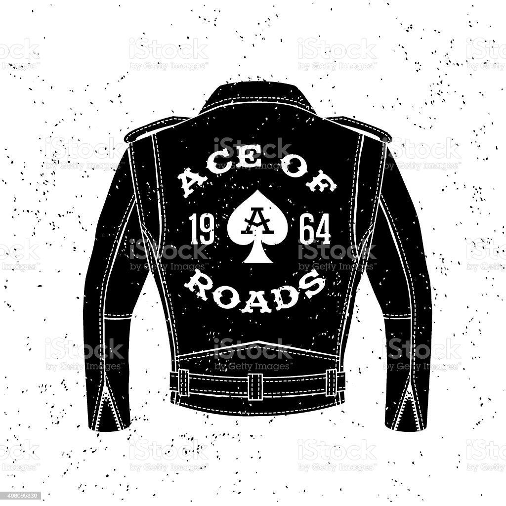vintage biker logo vector art illustration