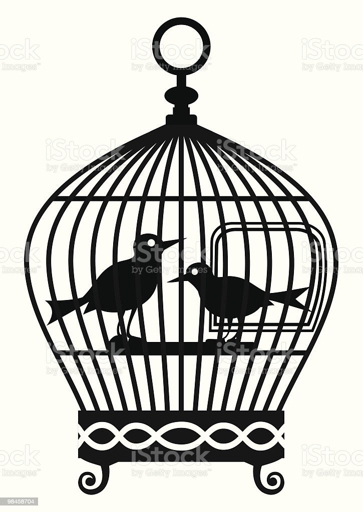 Vintage birdcage - vector graphic royalty-free vintage birdcage vector graphic stock vector art & more images of animal wildlife