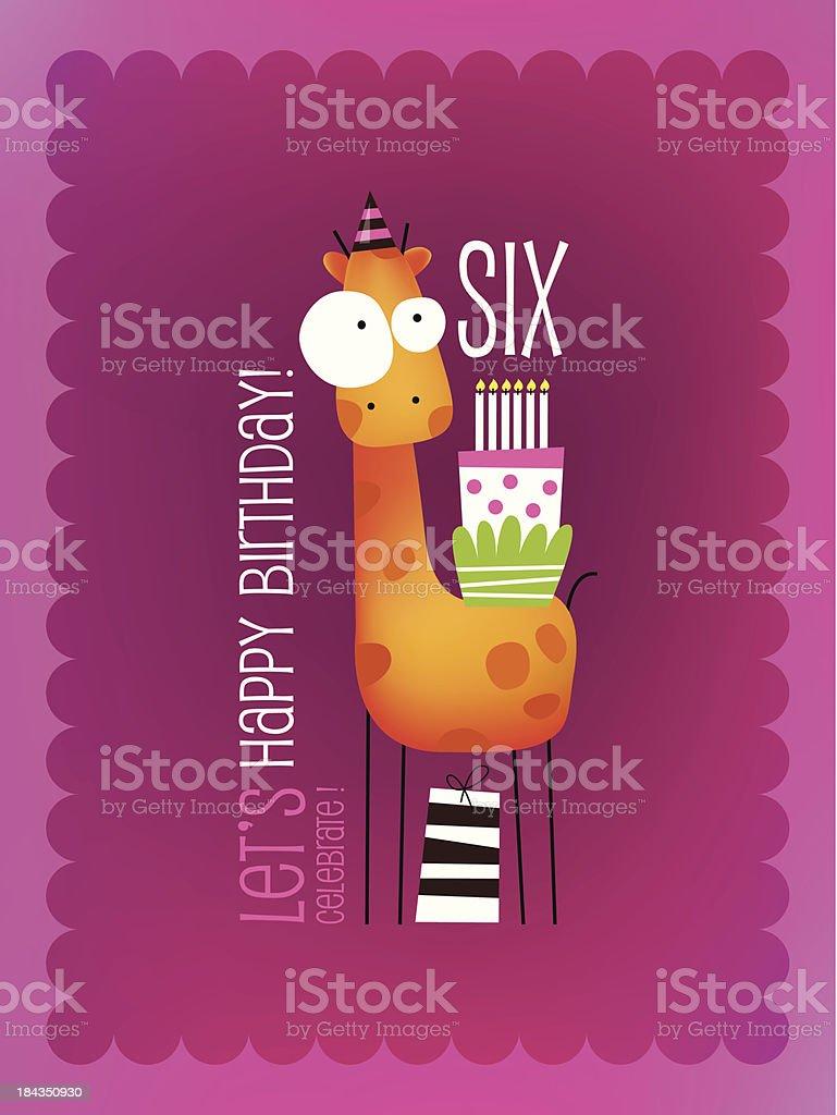 Vintage Birthday Card royalty-free stock vector art