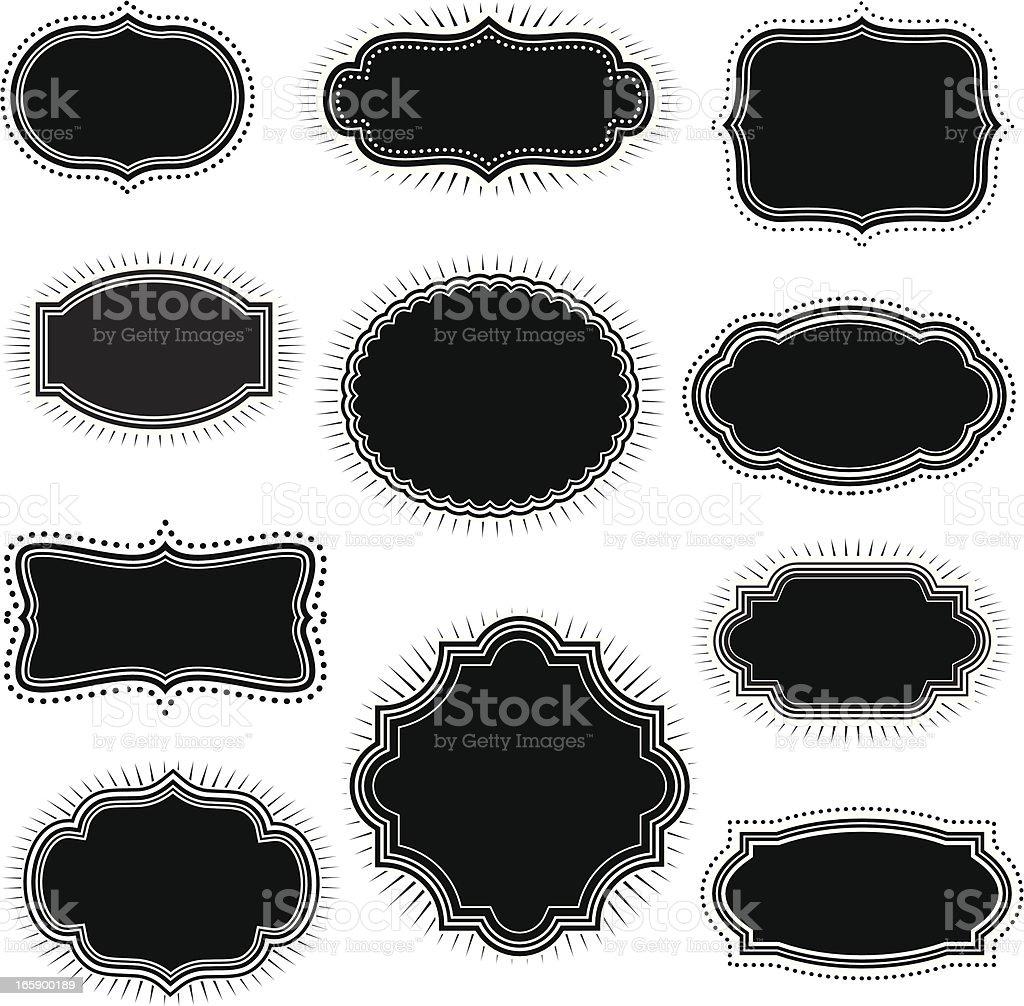 Vintage Black Frames vector art illustration