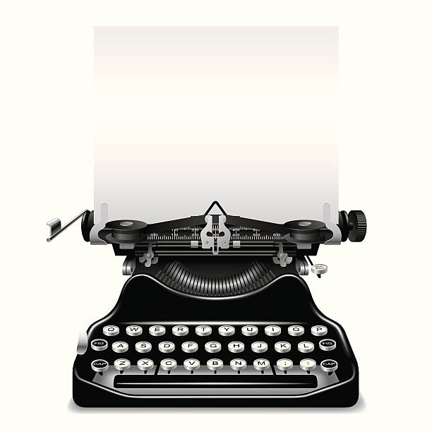 Royalty Free Vintage Typewriter Clip Art, Vector Images ...