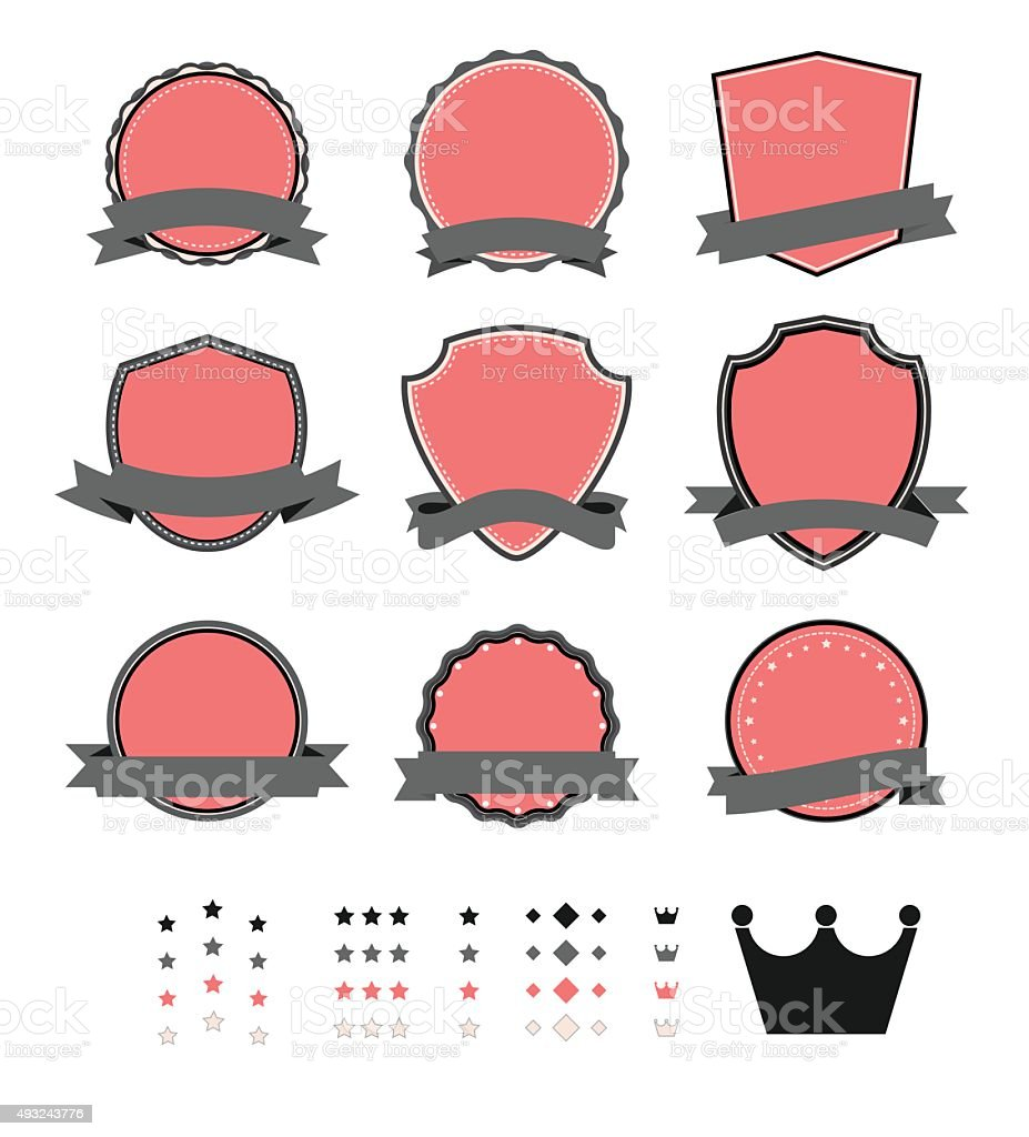 Vintage Blank Label Template Stock Vector Art More Images Of 2015