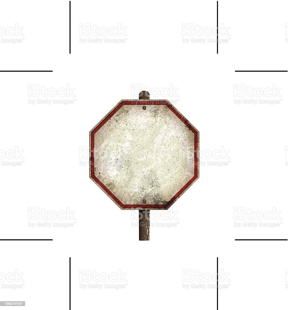 vintage blank traffic sign royalty-free stock vector art
