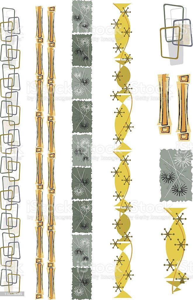 Vintage Border and Trim Elements vector art illustration
