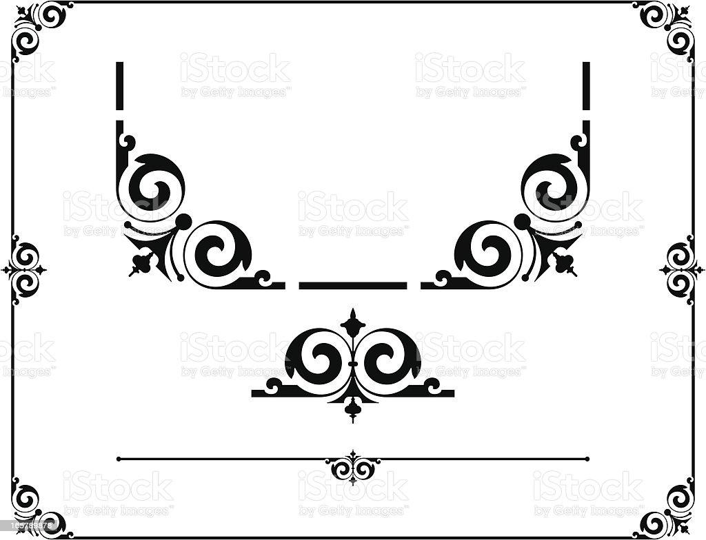 Vintage Border Design royalty-free stock vector art