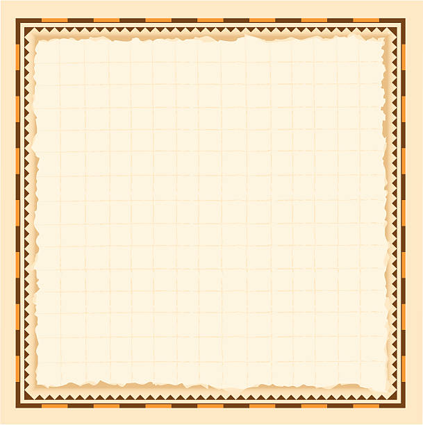Vintage Border Vector art of vintage border and background normally used on an old map. adventure borders stock illustrations