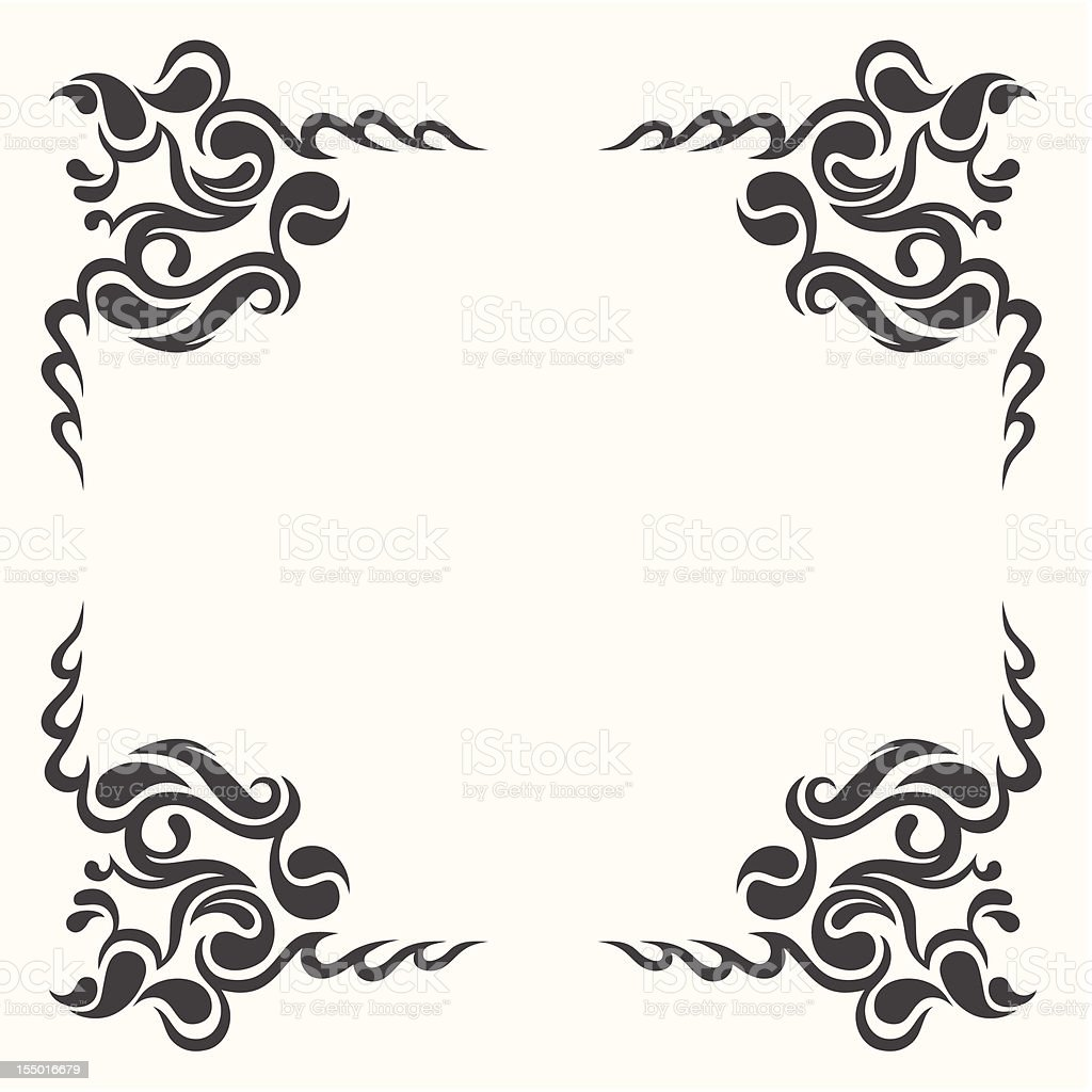 vintage border vector art illustration