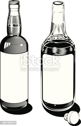Black and white vintage style clip art in two different styles, ready for your label customization.