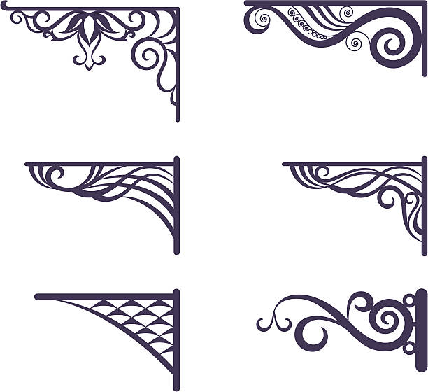 Royalty Free Wrought Iron Gate Clip Art, Vector Images ...