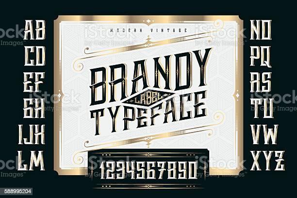 Vintage brandy label typeface with classic ornate and pattern vector id588995204?b=1&k=6&m=588995204&s=612x612&h=kgaf0 5svrjudeeucbre04mhuemwramqpp0y7g5rlgi=