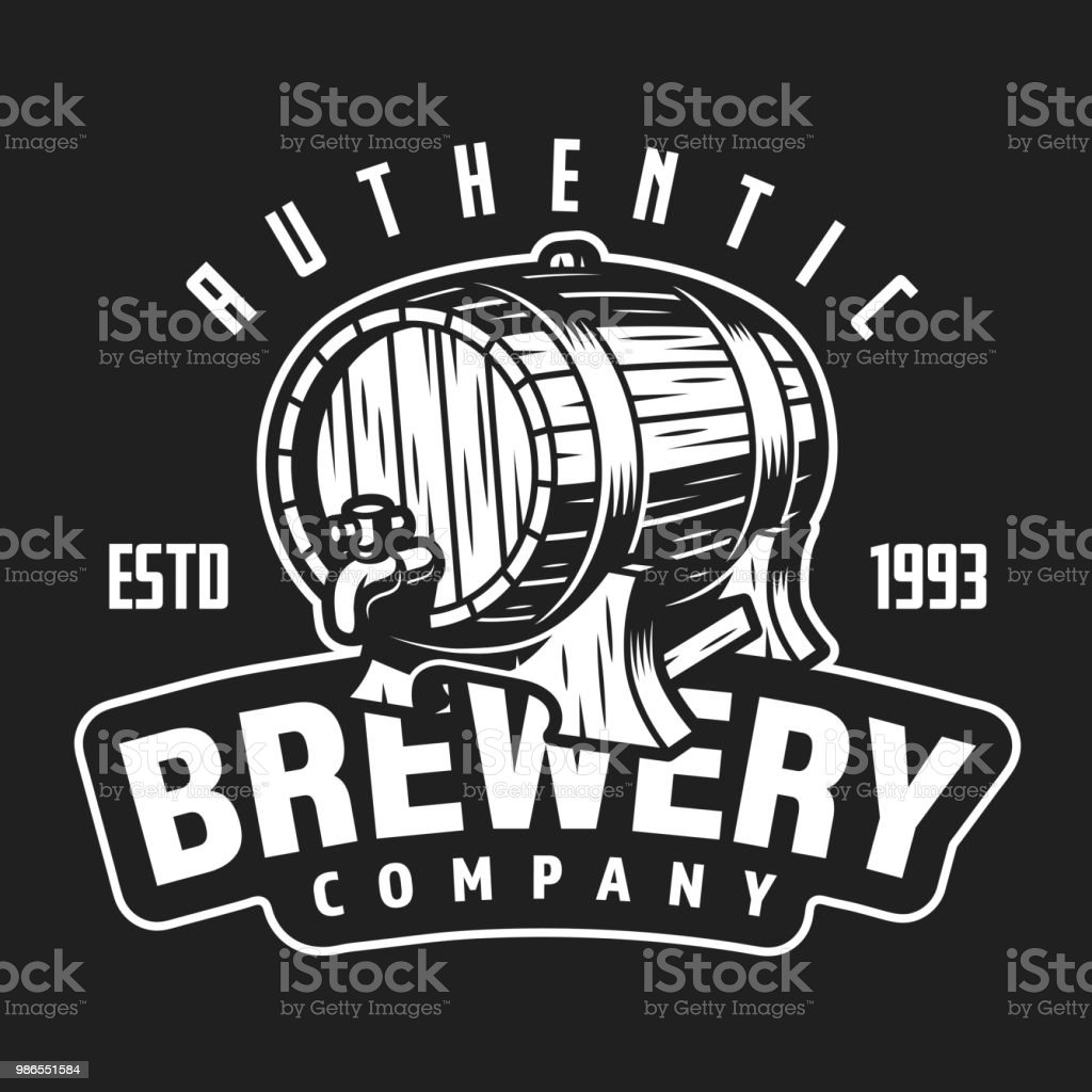 Vintage brewery company white symbol