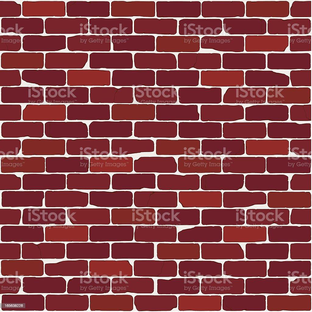 Mur de briques Vintage (homogènes - Illustration vectorielle