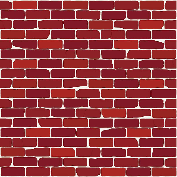 Vintage Brick Wall (Seamless) vector art illustration