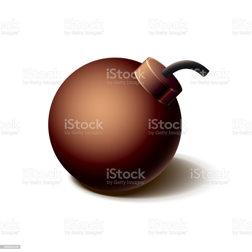 Vintage brown bomb icon, isolated on white royalty-free vintage brown bomb icon isolated on white stock vector art & more images of abundance