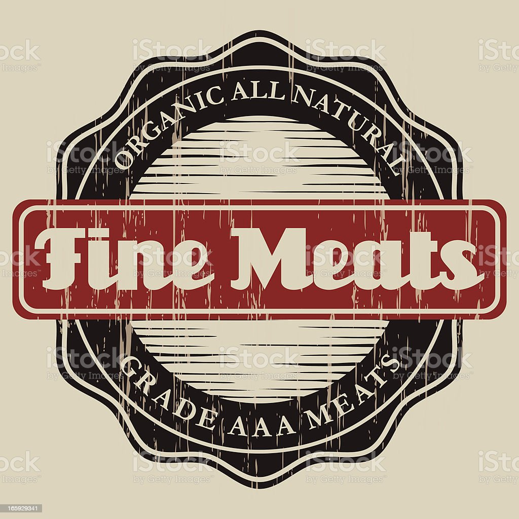 Vintage Butcher Label royalty-free stock vector art