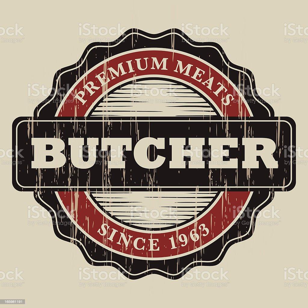 Vintage Butcher Label royalty-free stock vector art