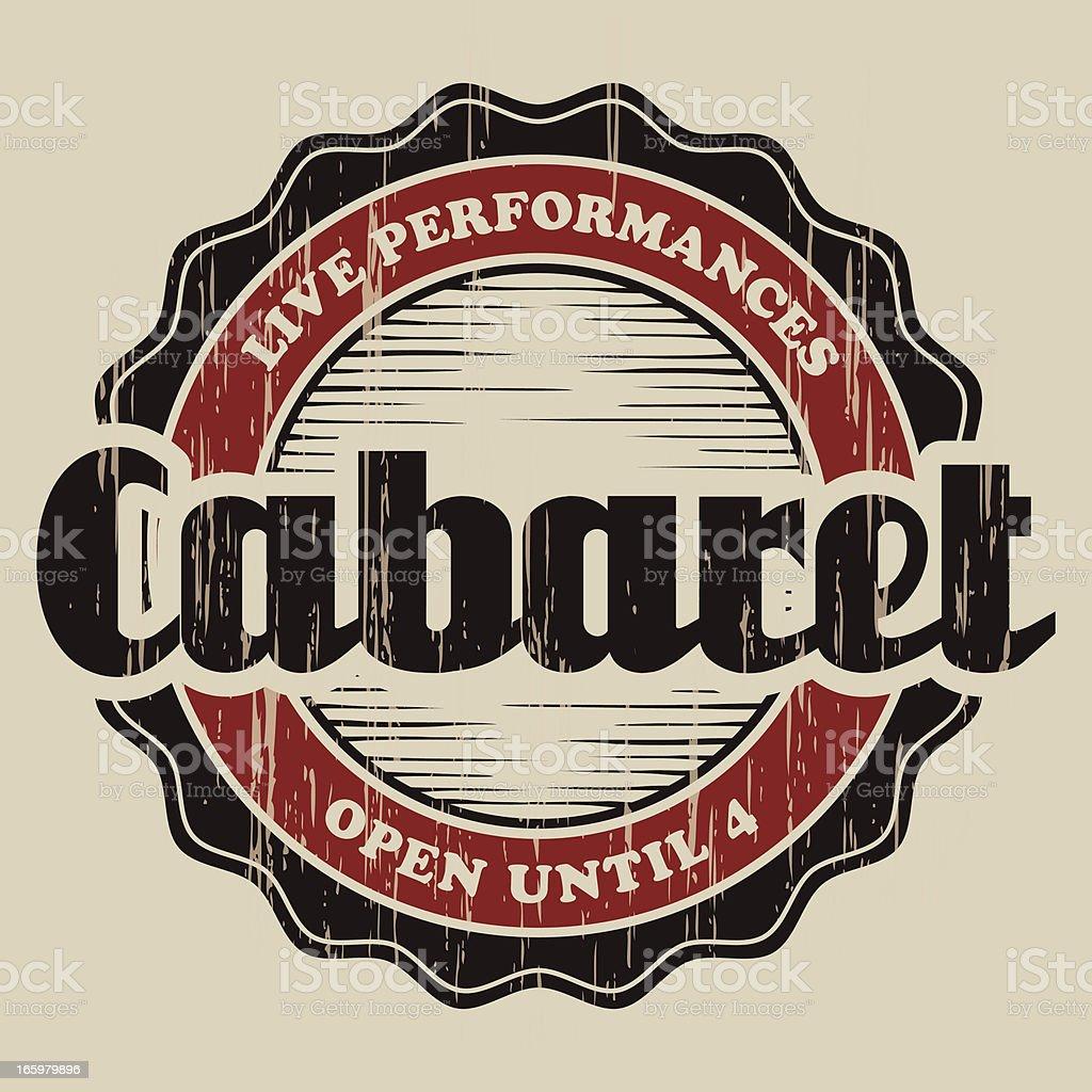 Vintage Cabaret Label royalty-free stock vector art