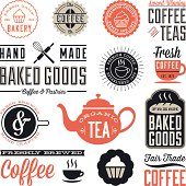 Set of vintage labels and design elements. Colors are global and each design is grouped for easy editing.  Download includes zipped AI file with unexpanded text which can be edited.