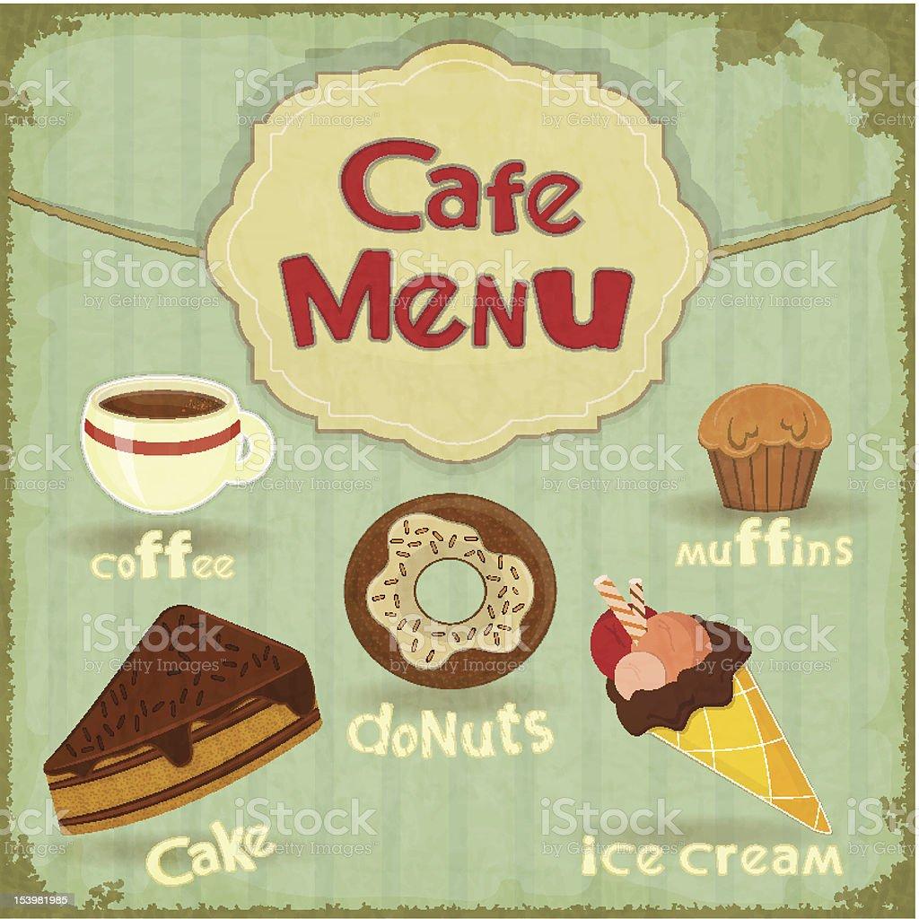 Vintage Cafe Menu royalty-free vintage cafe menu stock vector art & more images of brochure