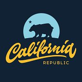 Vintage california republic apparel design