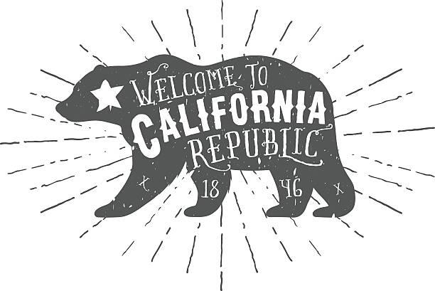 ilustrações, clipart, desenhos animados e ícones de vintage da república bear com estrelas - urso