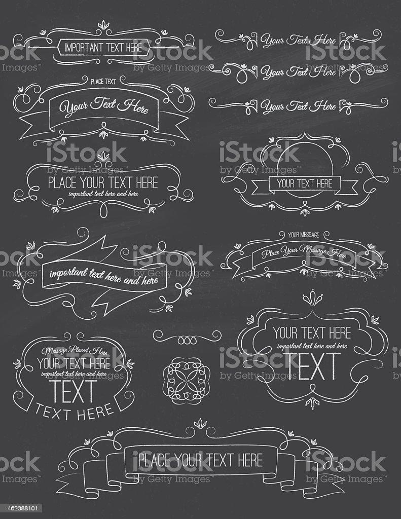 Vintage Calligraphy ChalkBoard Elements Seven vector art illustration