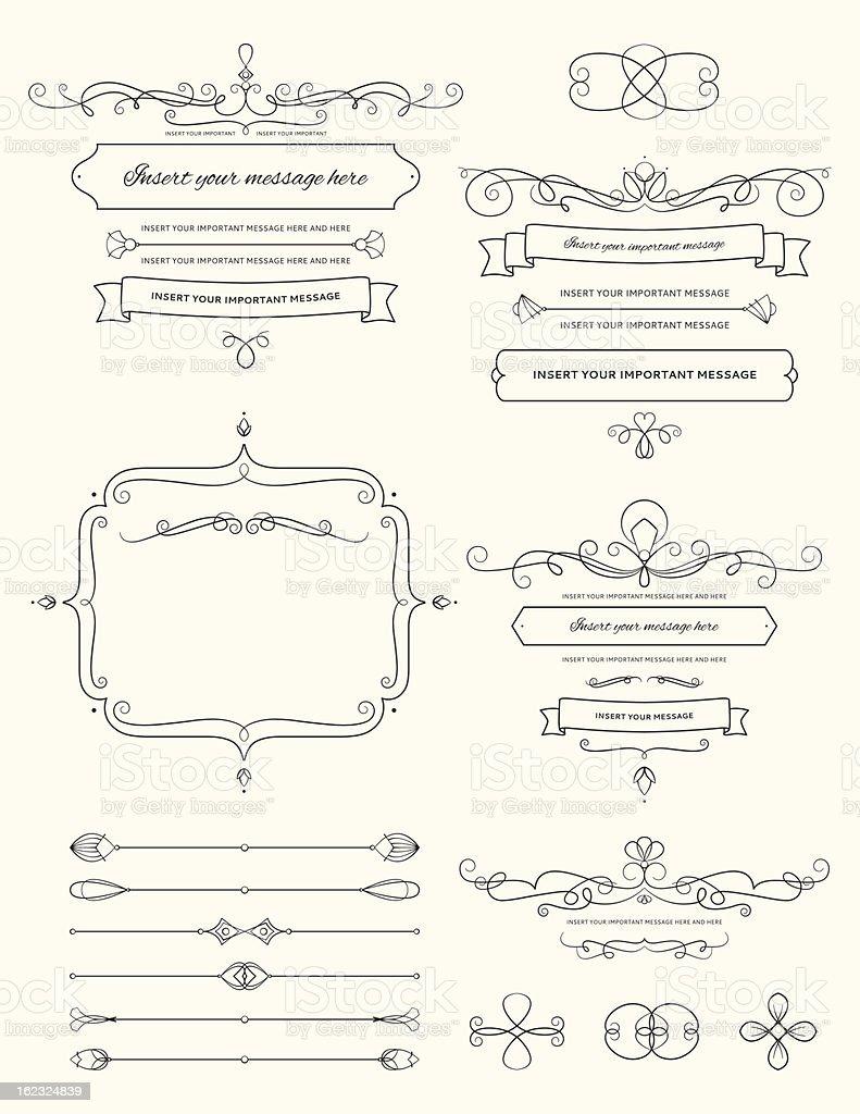 Vintage Calligraphy Design Elements Two vector art illustration