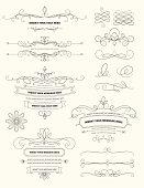 Vintage Calligraphy Design Elements