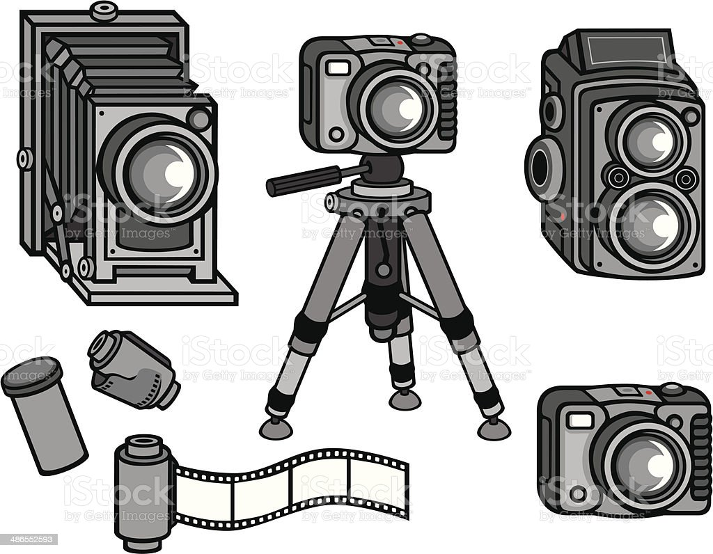 Camera Vintage Vector Free : Vintage camera equipment stock vector art & more images of antique