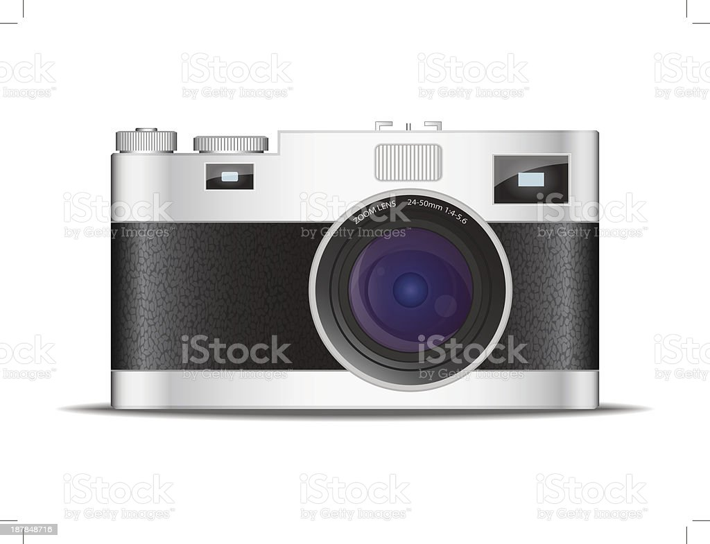 Camera Vintage Vector Free : Vintage camera stock vector art & more images of black color