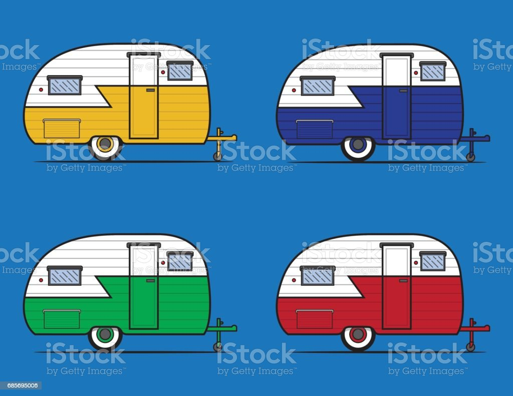 Vintage Camper Graphic Royalty Free Stock Vector Art Amp More Images