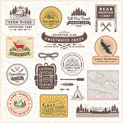 Vintage badge stock illustrations