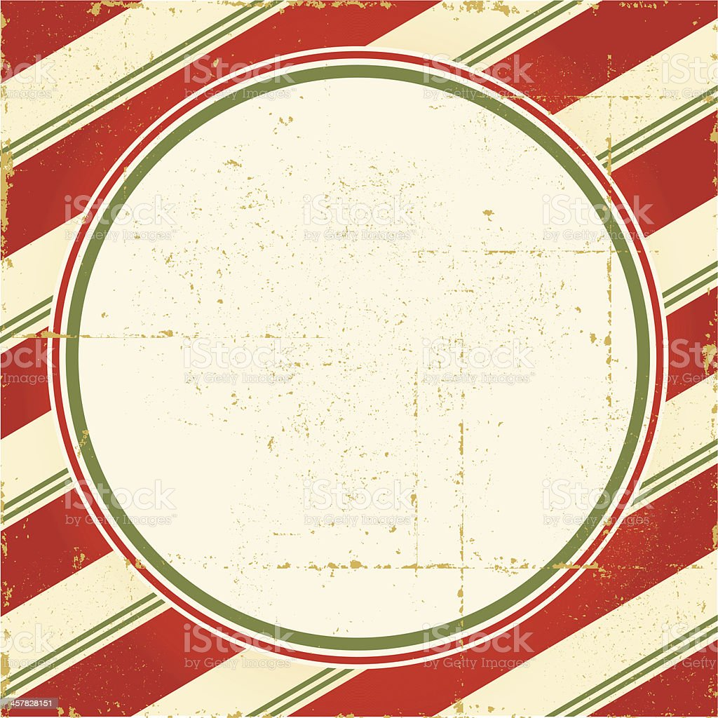 Vintage Candy Cane Frame royalty-free stock vector art