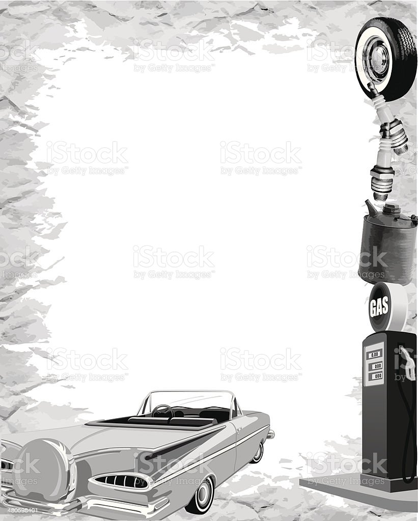 Vintage Car Frame Stock Vector Art & More Images of Auto Repair Shop ...
