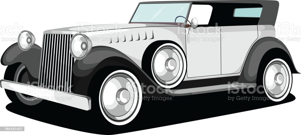 Vintage Car In Black White Color Royalty Free