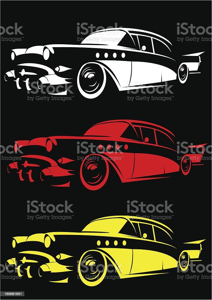 Vintage car stencil II vector art illustration