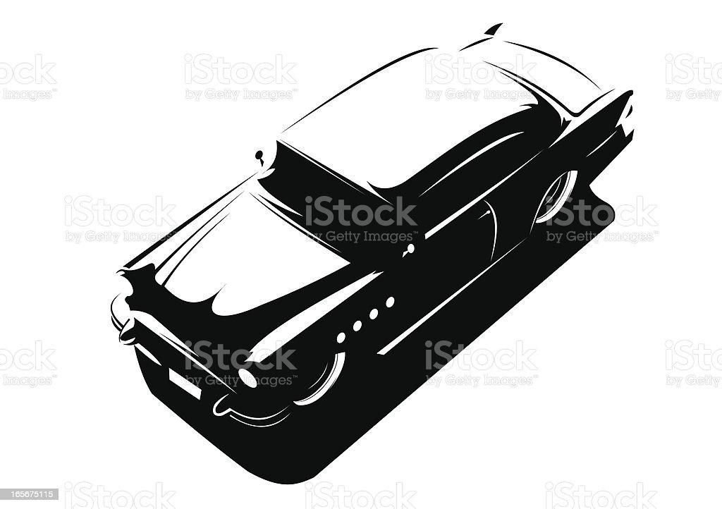 Vintage car stencil vector art illustration