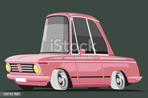 Easy editable vintage  car vector illustration.