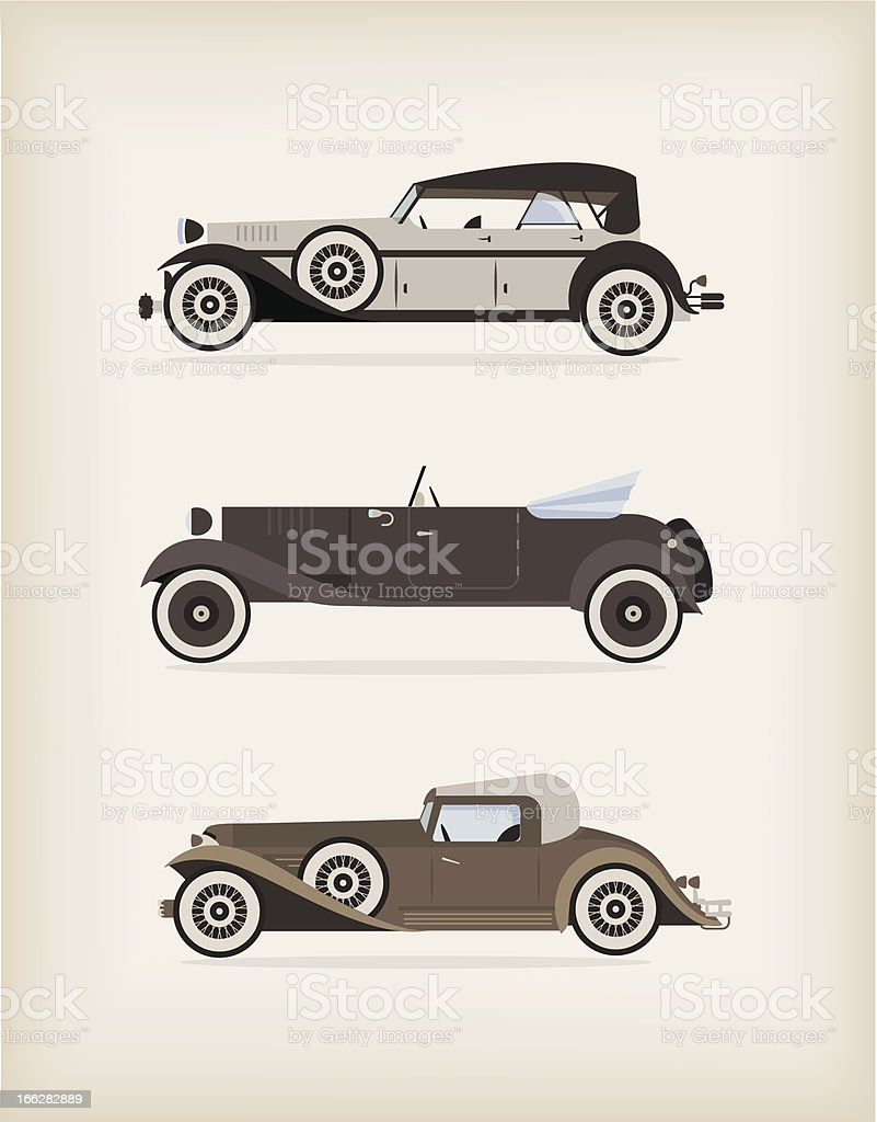 Vintage car royalty-free stock vector art