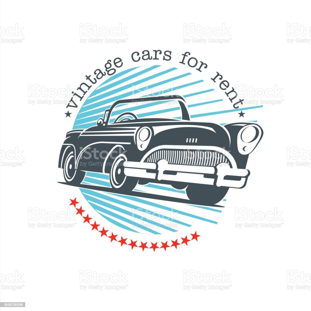 Vintage Car Vector Sign Icon Retro Cars For Rent Stock Vector Art ...