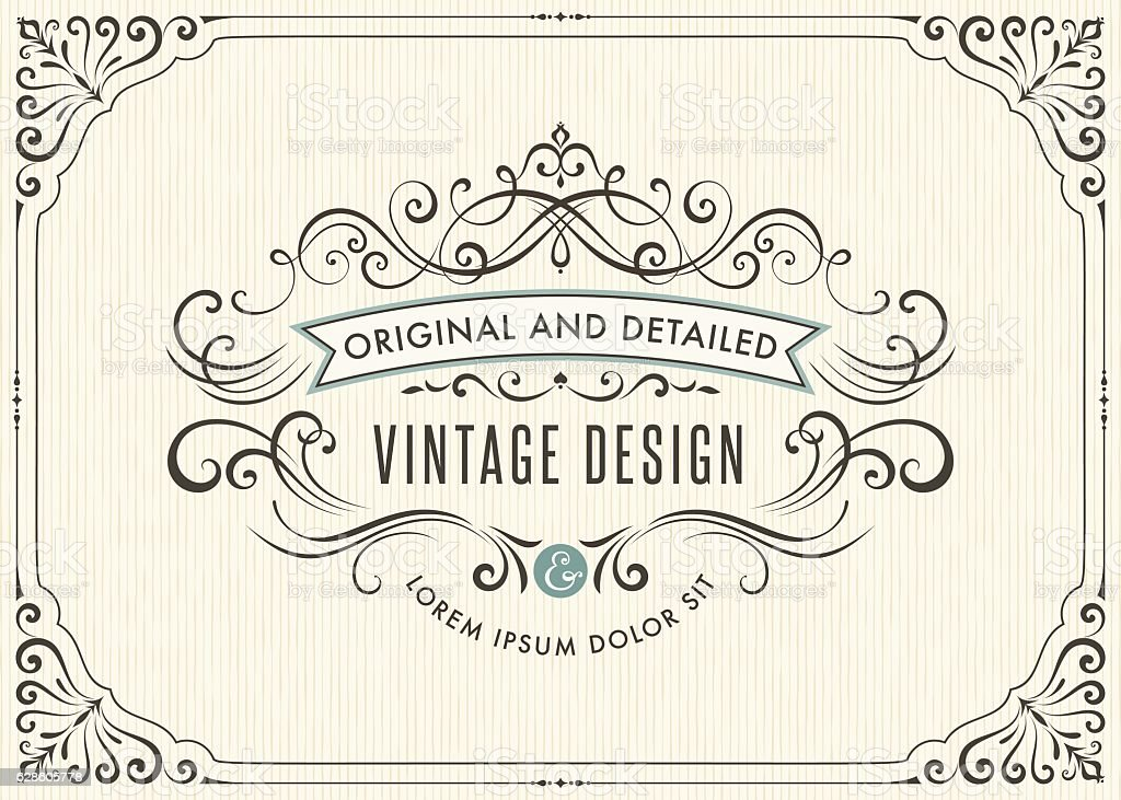 Vintage Card Design vector art illustration