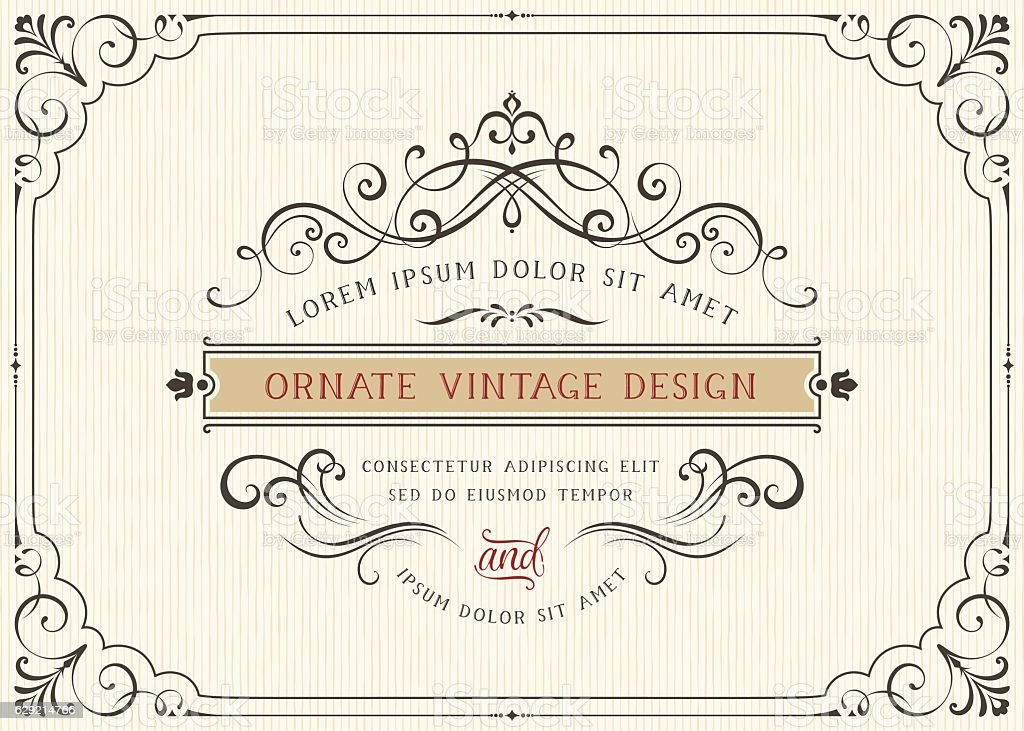 Carte Vintage Design - Illustration vectorielle