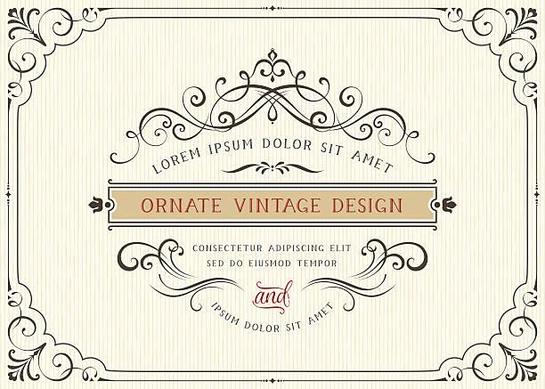Carte Vintage Design - Illustration vectorielle