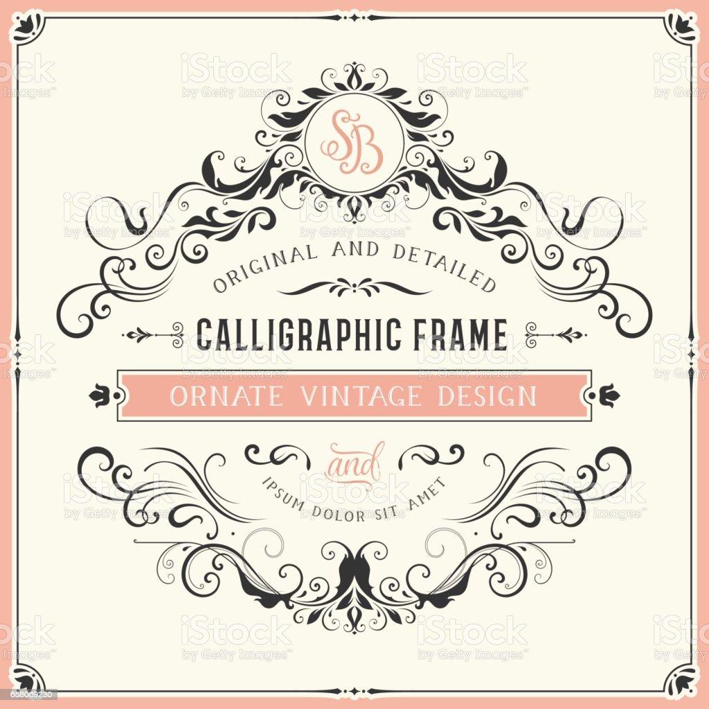 Vintage Card Design_05 royalty-free vintage card design05 stock vector art & more images of ampersand