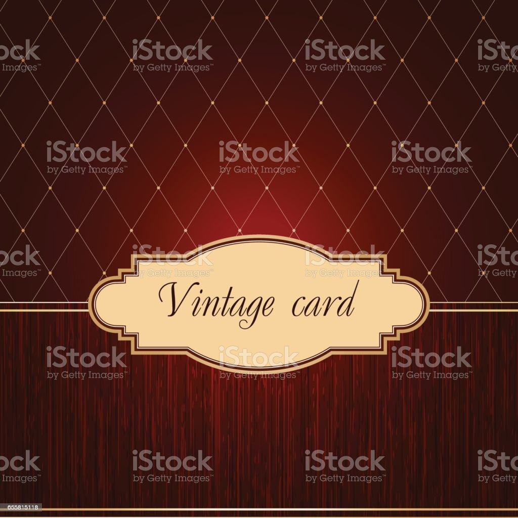 Vintage card vector art illustration
