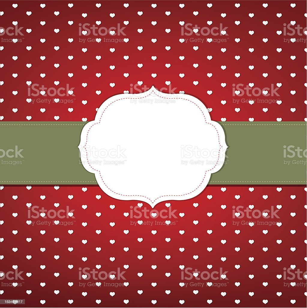 Vintage Card Wit Hearts royalty-free vintage card wit hearts stock vector art & more images of backgrounds