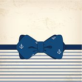 Vintage card with bow tie