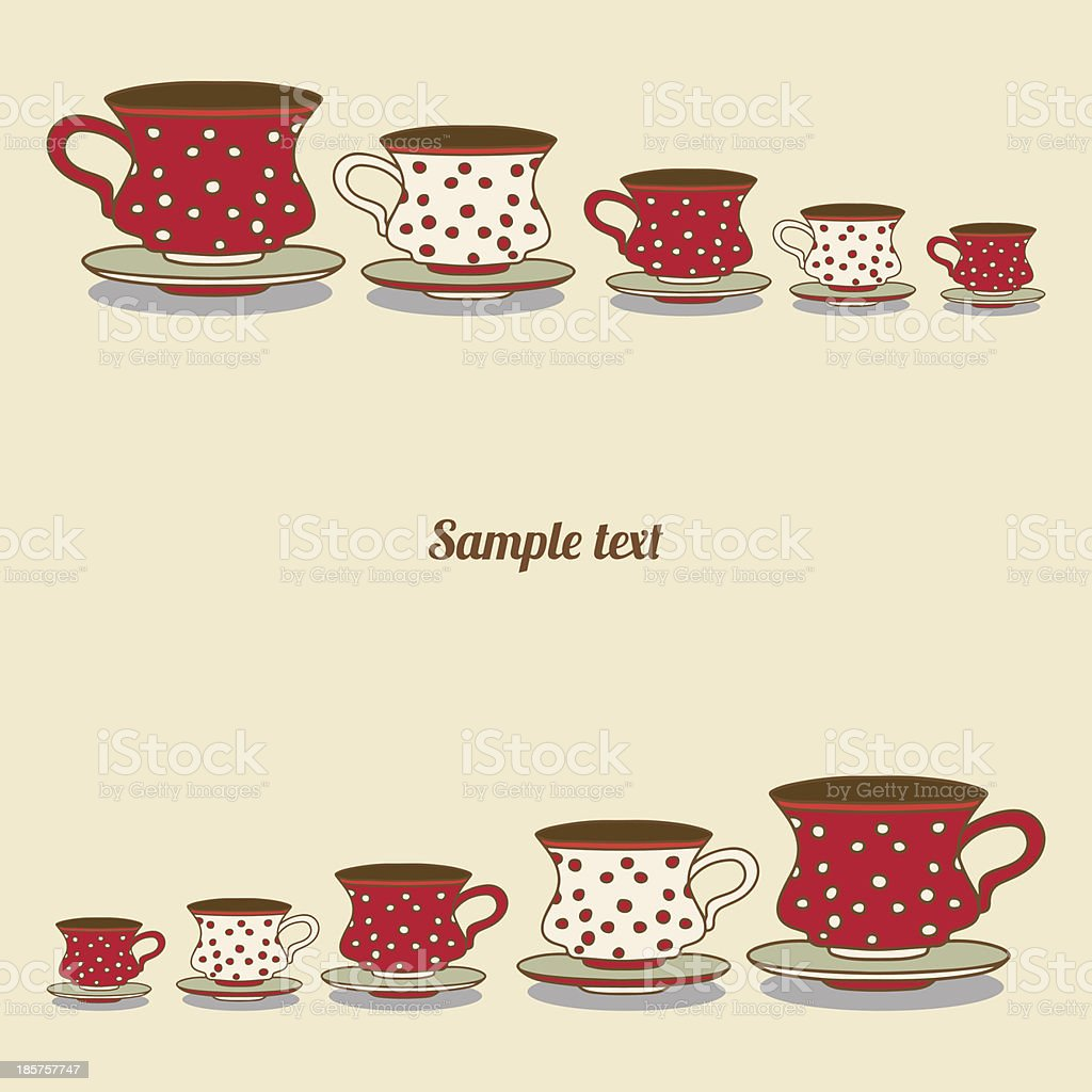 Vintage card with cups royalty-free vintage card with cups stock vector art & more images of abstract