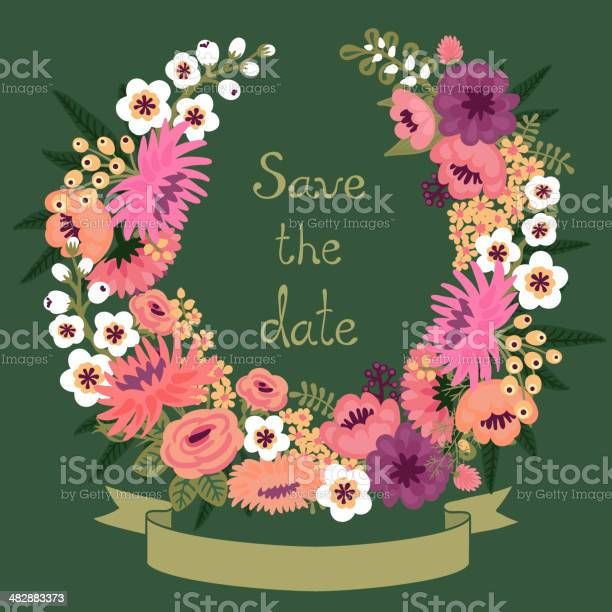 Vintage card with floral wreath save the date vector id482883373?b=1&k=6&m=482883373&s=612x612&h=va6ecz yjtibxbws6urup rp8hgxgszfluy zhmkpfc=
